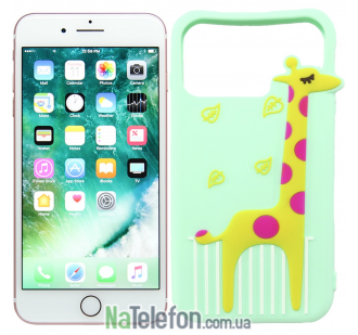 Чехол Universal Disney для iPhone 4.7 Giraffe Light Blue
