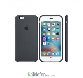 Оригинальный силиконовый чехол для iPhone 5/5s/SE Темно Серый