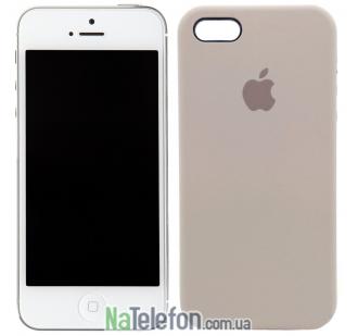 Оригинальный силиконовый чехол для iPhone 5/5s/SE Бежевый