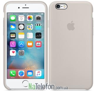 Оригинальный силиконовый чехол для iPhone 6/6s Plus Бежевый