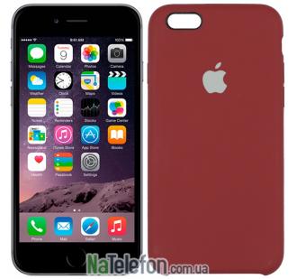 Оригинальный силиконовый чехол для iPhone 6/6s Клюква