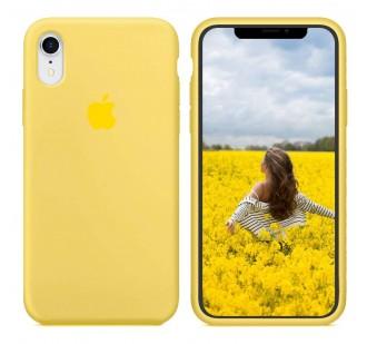 Оригинальный силиконовый чехол для iPhone Xr Лимонный