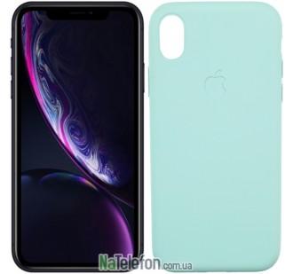 Оригинальный силиконовый чехол для iPhone X/Xs Голубой