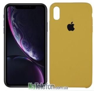 Оригинальный силиконовый чехол для iPhone Xs Max Светло коричневый