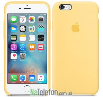 Оригинальный силиконовый чехол для iPhone 6/6s Золотой