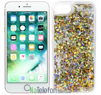 Жидкий чехол Glitter Series 5 для iPhone 7/8 Gold