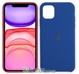 Чехол силиконовый оригинальный для iPhone 11 Pro Темно Синий