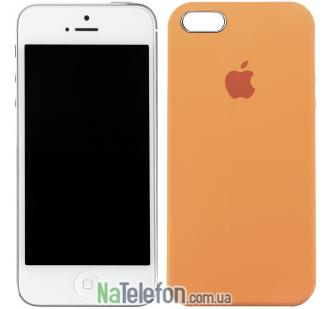 Оригинальный силиконовый чехол для iPhone 5/5s/SE Светло оранжевый