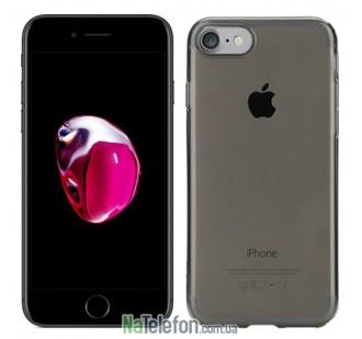"TPU чехол ROCK Slim Jacket для Apple iPhone 7 (4.7"") (Черный / Transparent black с заглушкой)"