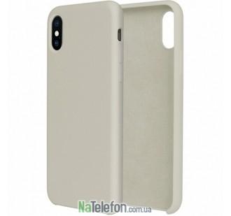 Оригинальный силиконовый чехол для iPhone X/Xs Бежевый