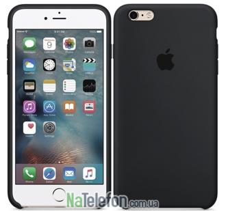 Оригинальный силиконовый чехол для iPhone 6/6s Plus Чёрный