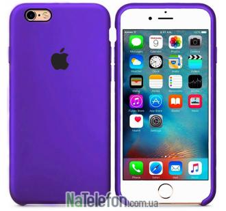 Оригинальный силиконовый чехол для iPhone 6/6s Plus Фиолетовый