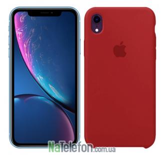 Чехол силиконовый оригинальный для iPhone Xr Бордовый