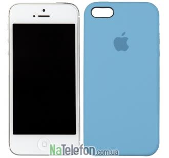 Оригинальный силиконовый чехол для iPhone 5/5s/SE Небесно синий