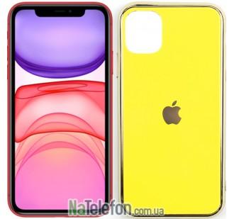 Чехол U-Like Glossy Logo для iPhone 11 Желтый