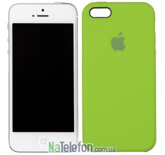 Оригинальный силиконовый чехол для iPhone 5/5s/SE Ярко зеленый