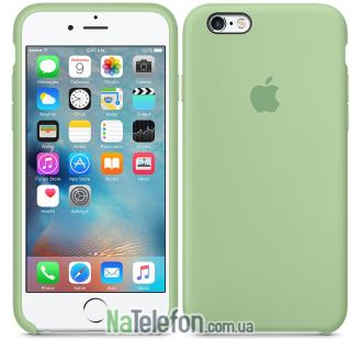 Оригинальный силиконовый чехол для iPhone 6/6s Зеленый