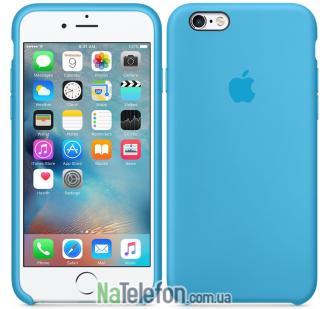 Оригинальный силиконовый чехол для iPhone 6/6s Plus Синий