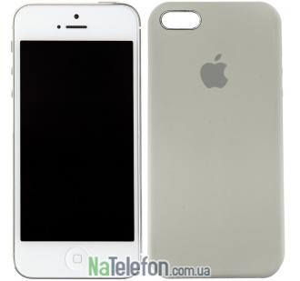 Оригинальный силиконовый чехол для iPhone 5/5s/SE Пепельно серый