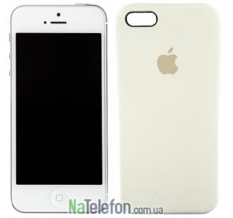 Оригинальный силиконовый чехол для iPhone 5/5s/SE Молочный