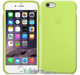 Оригинальный силиконовый чехол для iPhone 6/6s Plus Оливковый