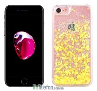 Жидкий чехол Glitter Series 3 для iPhone 7/8 Yellow