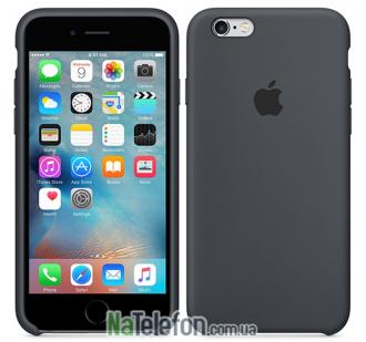 Оригинальный силиконовый чехол для iPhone 6/6s Plus Серый