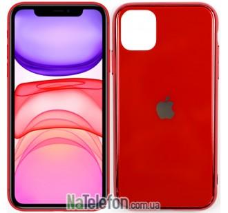 Чехол U-Like Glossy Logo для iPhone 11 Красный
