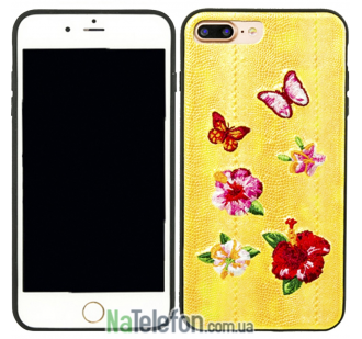 Накладка Diliana flower&butterfly for iPhone 7 Plus/8 Plus желтая
