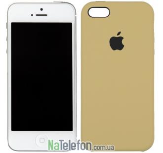 Оригинальный силиконовый чехол для iPhone 5/5s/SE Светло коричневый