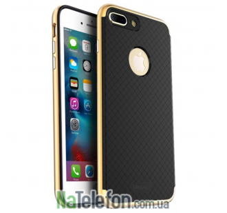 Накладка iPaky (OR) Carbon TPU + Bumper for iPhone 7 Plus Gold