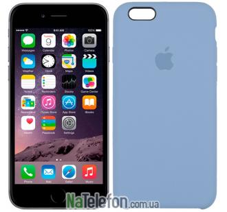 Оригинальный силиконовый чехол для iPhone 6/6s Plus Морской синий