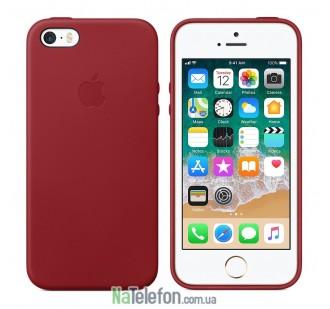 Оригинальный силиконовый чехол для iPhone 5/5s/SE Вишневый