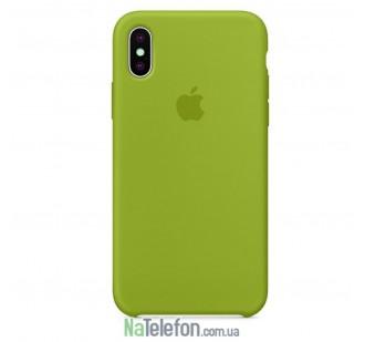 Оригинальный силиконовый чехол для iPhone X/Xs Оливковый