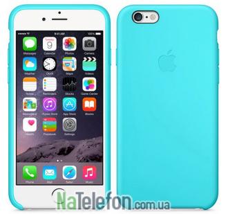 Оригинальный силиконовый чехол для iPhone 6/6s Голубой