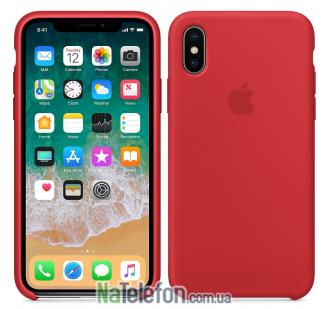 Оригинальный силиконовый чехол для iPhone Xr Красный