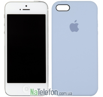 Оригинальный силиконовый чехол для iPhone 5/5s/SE Морской синий