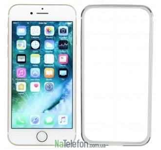 Бампер для iPhone 7 Evoque Metal серебряный