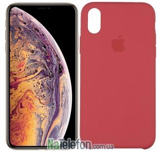 Оригинальный силиконовый чехол для iPhone Xs Max Кораловый