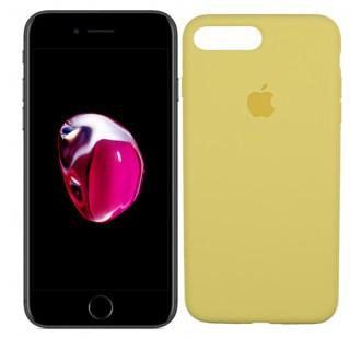 Оригинальный силиконовый чехол для iPhone 7/8 Plus Желтый FULL