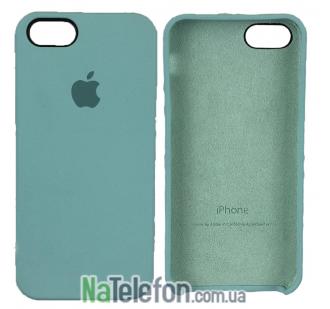 Оригинальный силиконовый чехол для iPhone 5/5s/SE Минтоловый