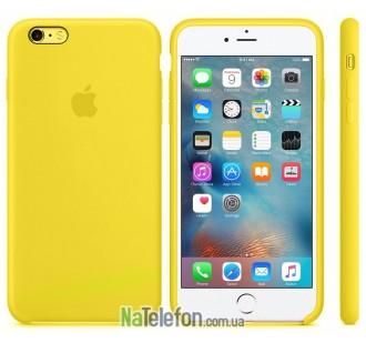 Оригинальный силиконовый чехол для iPhone 5/5s/SE Желтый