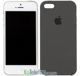 Оригинальный силиконовый чехол для iPhone 5/5s/SE Кофейный