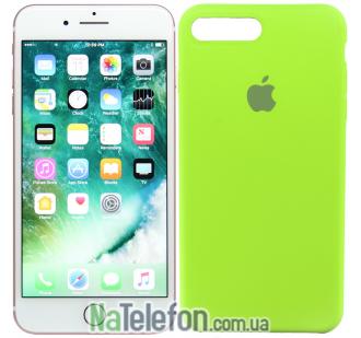 Оригинальный силиконовый чехол для iPhone 7/8 Plus Зеленый