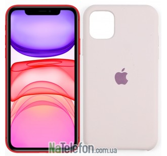 Оригинальный силиконовый чехол для iPhone 11 Бежевый