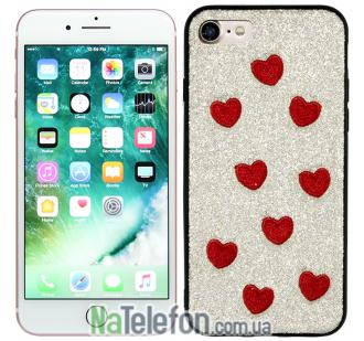 Накладка Diliana Hearts for iPhone 7/8 золотая
