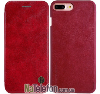 Кожаный чехол книжка NILLKIN Qin series iPhone 7 Plus Red