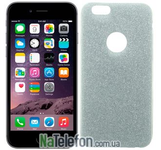 Силиконовый блестящий чехол Remax Glitter Silicon для iPhone 6 Plus Blue