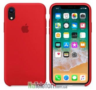 Оригинальный силиконовый чехол для iPhone Xr Красный FULL