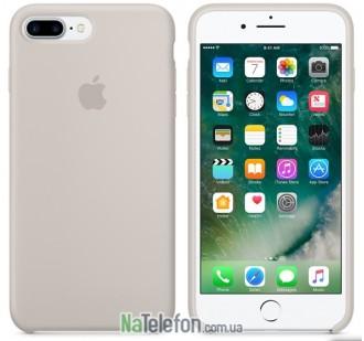 Оригинальный силиконовый чехол для iPhone 7/8 Plus Бежевый